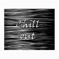 Black An White  chill Out  Small Glasses Cloth by Valentinaart