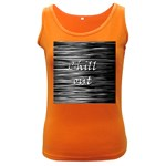 Black an white  Chill out  Women s Dark Tank Top Front