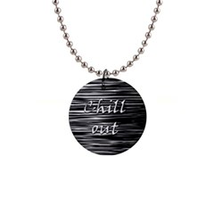 Black An White  chill Out  Button Necklaces by Valentinaart