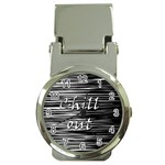 Black an white  Chill out  Money Clip Watches Front