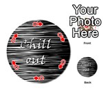 Black an white  Chill out  Playing Cards 54 (Round)  Front - DiamondQ