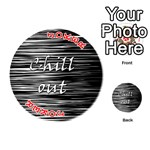 Black an white  Chill out  Playing Cards 54 (Round)  Front - Joker2