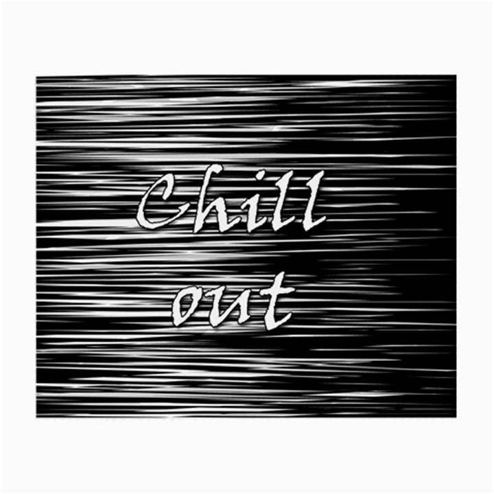 Black an white  Chill out  Small Glasses Cloth (2-Side)