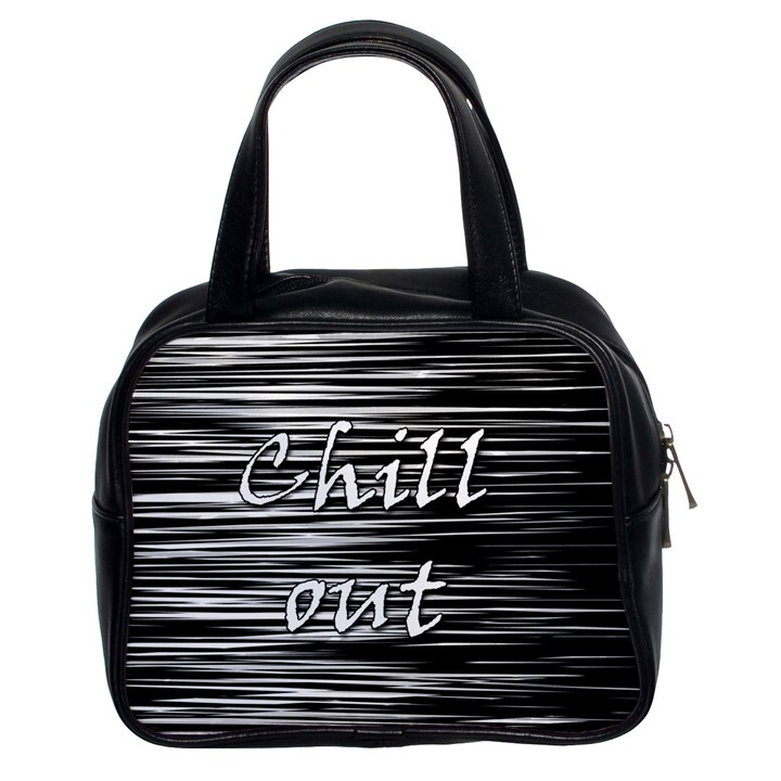 Black an white  Chill out  Classic Handbags (2 Sides)