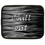 Black an white  Chill out  Netbook Case (XXL)  Front
