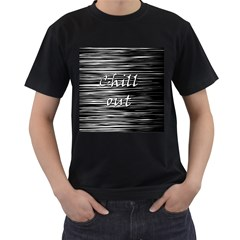 Black An White  chill Out  Men s T Shirt (black)