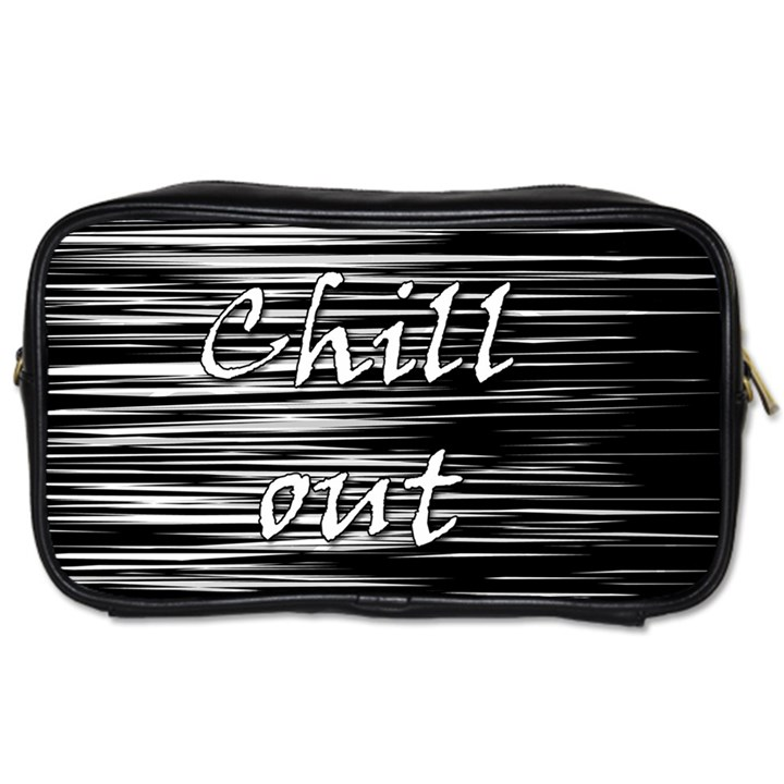 Black an white  Chill out  Toiletries Bags 2-Side