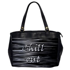 Black An White  chill Out  Office Handbags