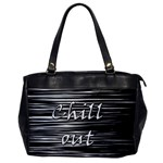 Black an white  Chill out  Office Handbags Front