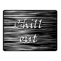 Black An White  chill Out  Fleece Blanket (small) by Valentinaart