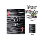 Black an white  Chill out  Playing Cards 54 (Mini)  Front - Diamond7