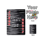 Black an white  Chill out  Playing Cards 54 (Mini)  Front - Joker2