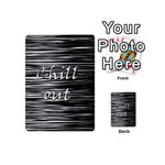 Black an white  Chill out  Playing Cards 54 (Mini)  Back