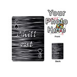 Black an white  Chill out  Playing Cards 54 (Mini)  Front - Spade9