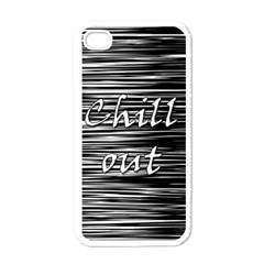 Black An White  chill Out  Apple Iphone 4 Case (white)
