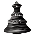 Black an white  Chill out  Christmas Tree Ornament (2 Sides) Back