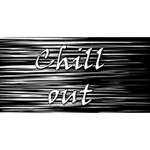 Black an white  Chill out  Happy Birthday 3D Greeting Card (8x4) Back