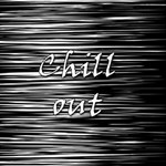 Black an white  Chill out  Best Wish 3D Greeting Card (8x4) Inside