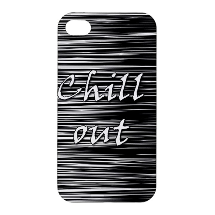 Black an white  Chill out  Apple iPhone 4/4S Hardshell Case
