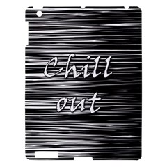 Black An White  chill Out  Apple Ipad 3/4 Hardshell Case by Valentinaart