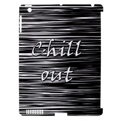 Black An White  chill Out  Apple Ipad 3/4 Hardshell Case (compatible With Smart Cover) by Valentinaart