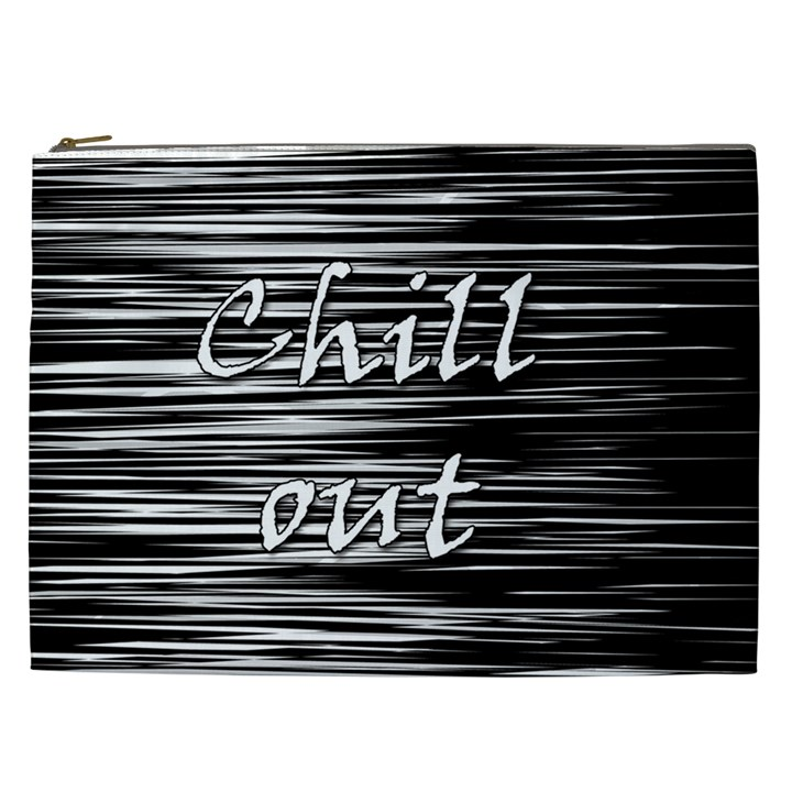 Black an white  Chill out  Cosmetic Bag (XXL)