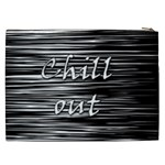 Black an white  Chill out  Cosmetic Bag (XXL)  Back