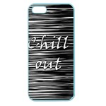 Black an white  Chill out  Apple Seamless iPhone 5 Case (Color) Front