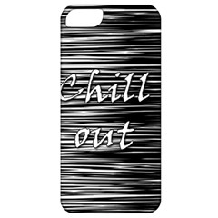 Black An White  chill Out  Apple Iphone 5 Classic Hardshell Case by Valentinaart