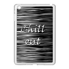 Black An White  chill Out  Apple Ipad Mini Case (white)