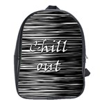 Black an white  Chill out  School Bags (XL)  Front