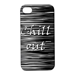 Black An White  chill Out  Apple Iphone 4/4s Hardshell Case With Stand
