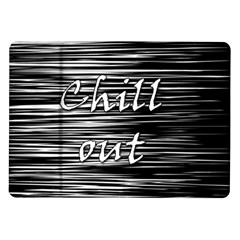 Black An White  chill Out  Samsung Galaxy Tab 10 1  P7500 Flip Case