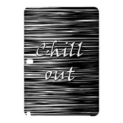 Black An White  chill Out  Samsung Galaxy Tab Pro 10 1 Hardshell Case by Valentinaart
