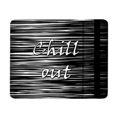 Black An White  chill Out  Samsung Galaxy Tab Pro 8 4  Flip Case
