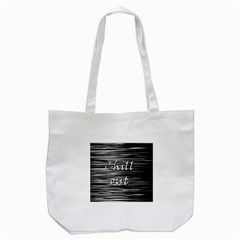 Black An White  chill Out  Tote Bag (white)