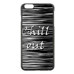 Black An White  chill Out  Apple Iphone 6 Plus/6s Plus Black Enamel Case