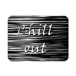 Black an white  Chill out  Double Sided Flano Blanket (Mini)  35 x27 Blanket Back