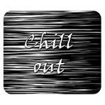 Black an white  Chill out  Double Sided Flano Blanket (Small)  50 x40 Blanket Back