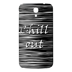 Black An White  chill Out  Samsung Galaxy Mega I9200 Hardshell Back Case by Valentinaart