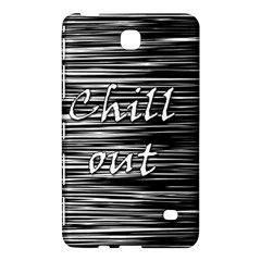 Black An White  chill Out  Samsung Galaxy Tab 4 (8 ) Hardshell Case  by Valentinaart