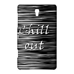 Black An White  chill Out  Samsung Galaxy Tab S (8 4 ) Hardshell Case