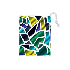 Mosaic Shapes Drawstring Pouches (Small)