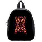 Alphabet Shirt School Bags (Small)  Front