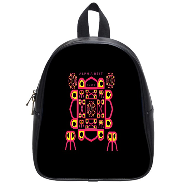 Alphabet Shirt School Bags (Small)