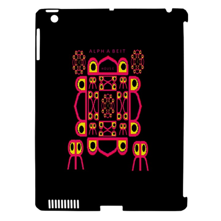 Alphabet Shirt Apple iPad 3/4 Hardshell Case (Compatible with Smart Cover)