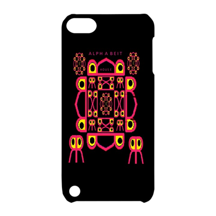 Alphabet Shirt Apple iPod Touch 5 Hardshell Case with Stand