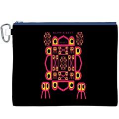 Alphabet Shirt Canvas Cosmetic Bag (xxxl) by MRTACPANS