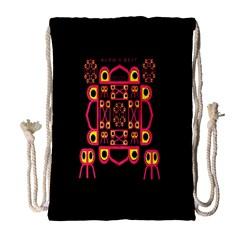 Alphabet Shirt Drawstring Bag (large)