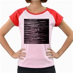 I love black and white Women s Cap Sleeve T-Shirt Front